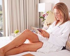 SENZA Hotel Rooms - Woman relaxing in Vineyard King