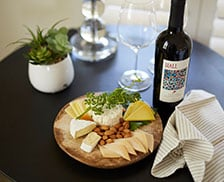 SENZA Hotel Dining - Wine and cheese platter